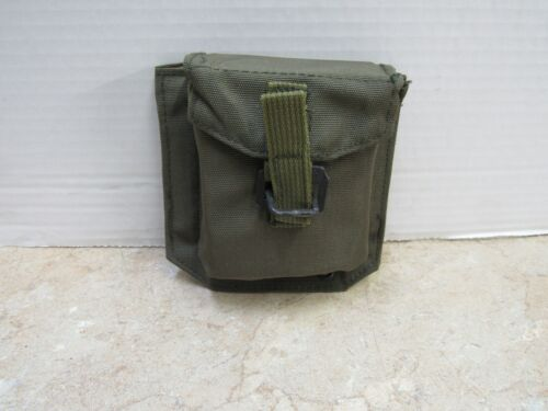 Vintage Israeli Military Compass Pouch Pocket with Alice Clips NOS