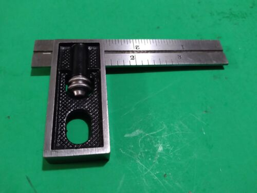 Starrett No. 13 Double Square 2pcs Head & 4 inch ruler  works great