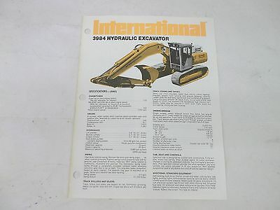 International Harvester 3984 Hydraulic Excavator Sales Brochure