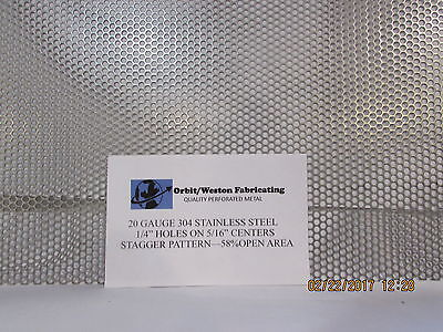 14 Holes 20 Gauge 304 Stainless Steel Perforated Sheet 12 X 24