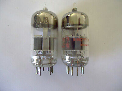 6DJ8 pair 1 GE, 1 unknown USA vacuum tubes tested, guaranteed. for sale  Shipping to South Africa