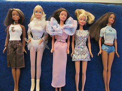 Mixed Lot Of Dressed Barbie Dolls