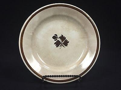 Antique Anthony Shaw Stone China   Burslem  Tea Leaf Luster 8  Plate