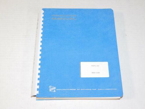 Vintage Tektronix 545 Cathode Ray Oscilloscope Unit Instruction Manual Book