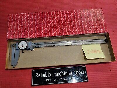 American Made Starrett 12 Inch Nib Jaw Dial Caliper 120b Machinist Tools P443