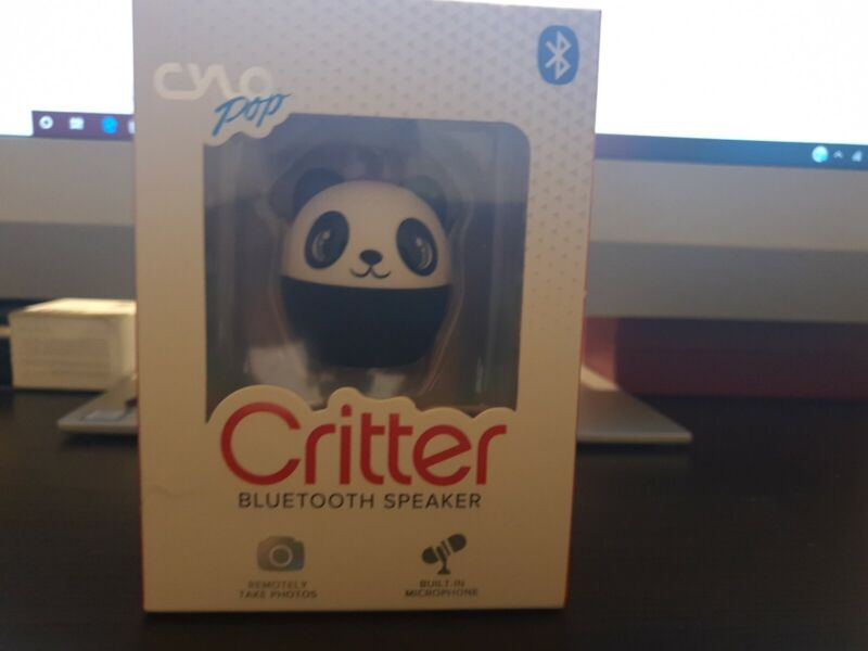CYLO Pop Panda Critter Bluetooth Speaker Built in Mic Remotely Take Photos New