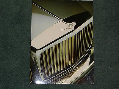Bentley Eight Mulsanne Turbo R Continental  foldout brochure - 1986 - mint