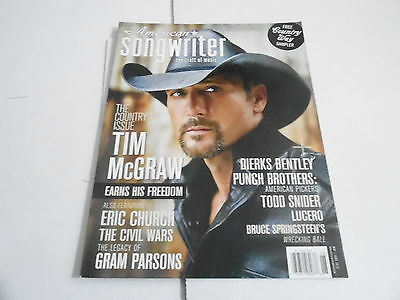 MAY/JUNE 2012 AMERICAN SONGWRITER music magazine TIM MCGRAW ()