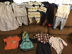 Baby boy clothes (0-3 months & 3 months)