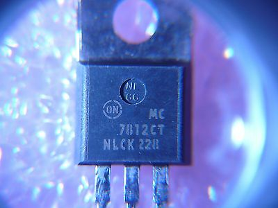 On Semi 12v 1a Positive Voltage Regulator Mc7812ct New Qty.2