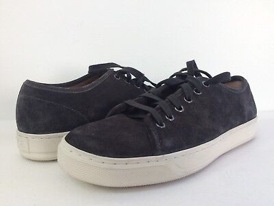 New Vince Men's Austin Suede Leather Fashion Sneakers Lace Up Dark Grey Size 7M