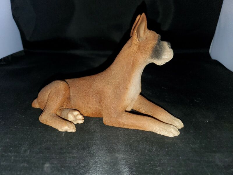 Castagna Boxer Laying 1988 Figurine