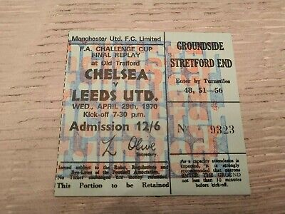 TICKET FA CUP FINAL 1970 REPLAY Chelsea v Leeds United