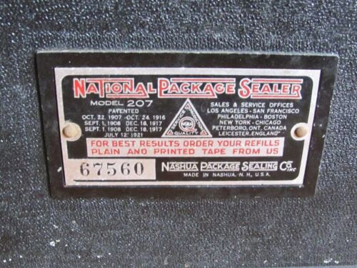 VTG INDUSTRIAL PACKAGE TAPE DISPENSER #207 NASHUA NH , #75 KANSAS ELEC POWER CO