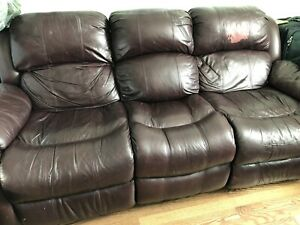 Leather Couch (Two Reclining Seats)