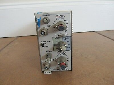 Tektronix 7a18 Dual Trace Amplifier Dc To 75 Mhz