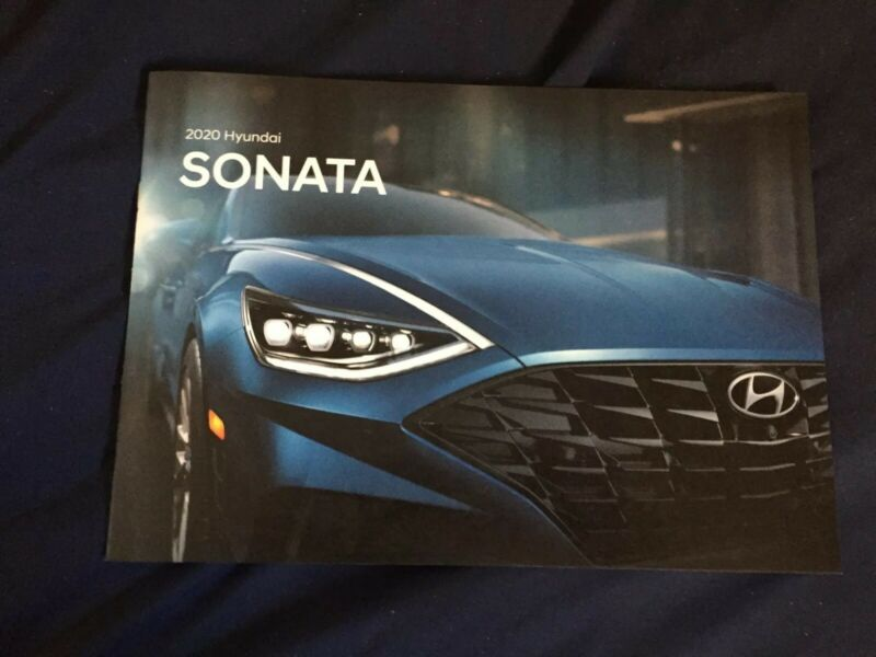 2020 Hyundai Sonata USA Market Large Color Brochure Catalog Prospekt