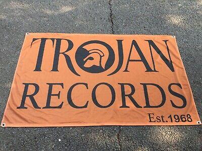 TROJAN ESTABLISHED 1968 REGGAE 3 X 5FT FLAG//BANNER SKA SKINHEAD 2 TONE