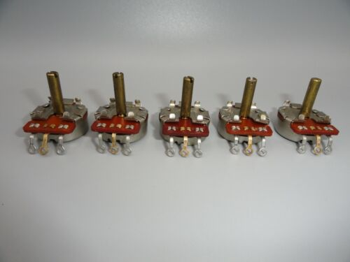 """Linear Taper 200 Ohm Potentiometer  3/16"""" Shaft   (LOT OF 5)"""