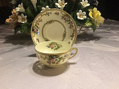 Vintage Noritake Cup And Saucer Plate Cordova Pattern Japan Plate  5 1/2