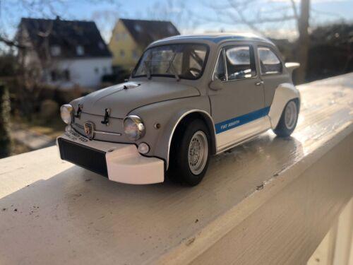 Fiat Abarth 1000 Tcr Grigio Con Strisce Rosse  Autoart 1:18 AA72641 Model