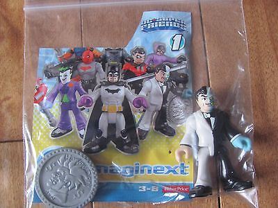 Fisher Price Imaginext TWO FACE Harvey Dent Series 1 DC Super Friends NEW