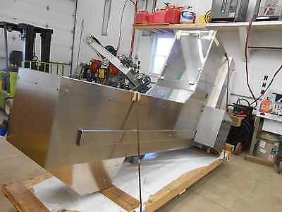 Ozaf E40sx Incline Hopper Foodpharmaceutical Grade Stainless Steel Conveyor