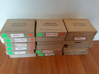 Lot 132 Vintage Kingsley Hot Foil Rolls 18 Boxes