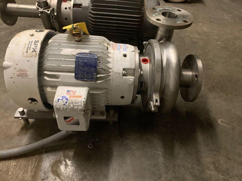 Waukesha Cherry Burrell Model 2065 Pump w/ Baldor JMM3559T 7.5hp Motor 2.5x3.5