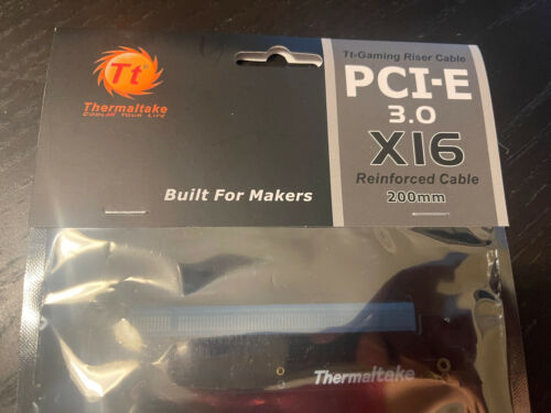 Thermaltake TT Gaming PCI-E X16 3.0 Black Extender Riser Cable 200mm - $14.99