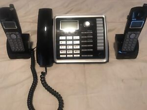 RCA 2 line phone with 2 cordless handsets