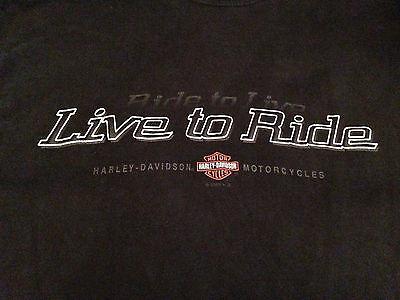 "Harley Davidson ""Seacoast Hampton NH HD Live to Ride"" Black Men's T-Shirt Large"