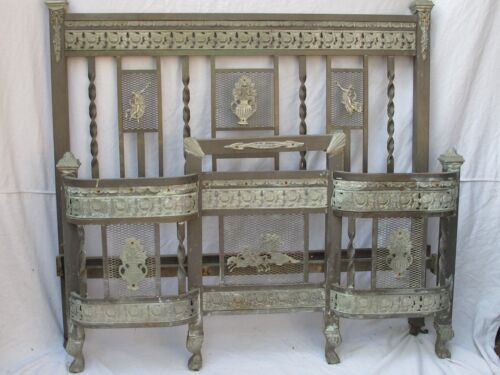 Antique French Double Brass Bed Ornate and Special Design
