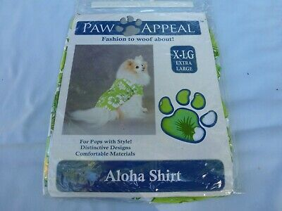 DOG/Pet ALOHA SHIRT by PAW APPEAL size XL  green NIP