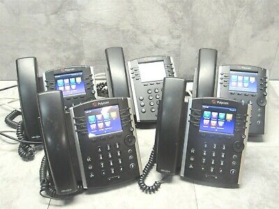 5 Lot - Polycom Vvx410 Business Office Gigabit Voip Phone W Handset Stand
