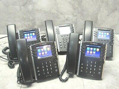 5 Lot - Polycom Vvx410 Business Office Gigabit Voip Phone W Handset Stand