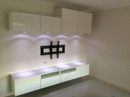 Classy new Wall mount entertainment units Supply delivered & installed Green Valley Liverpool Area Preview