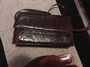 Snake purse and shoes