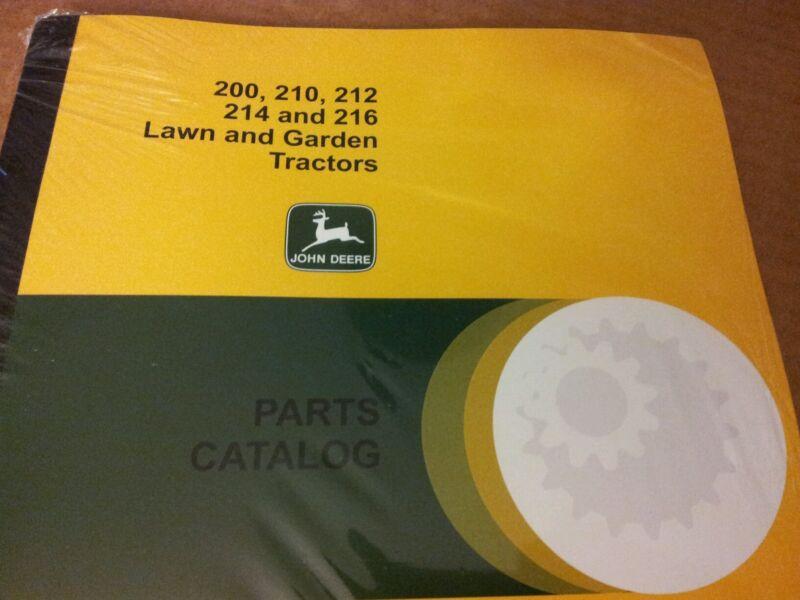 NEW JOHN DEERE 200 210 212 214 216 PARTS CATALOG