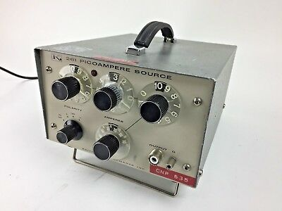 Keithley Instruments Model 261 Picoampere Current Source 50-1000 Cps Vintage