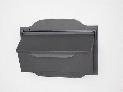 SHC Contemporary Gunmetal - Grey Wall Mount Mailbox - Cast Aluminum Mail Box Contemporary Wall Mount Mailbox