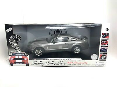 1:18 SHELBY COLLECTIBLES 2007 Shelby GT500 Grey BLACK Stripe Ltd 1100 Worldwide for sale  Thornhill