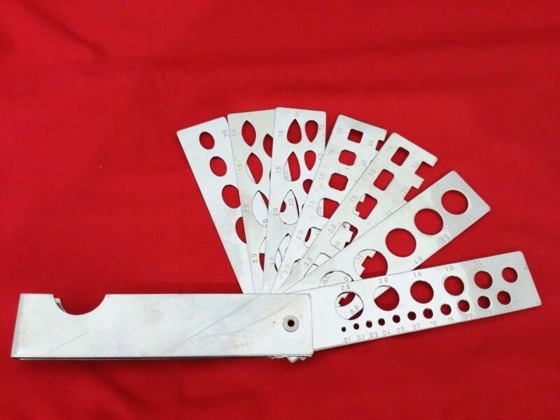 Diamond Gauge Weight Estimator 7 Blade Fan type Round Emerald Square Oval Pear
