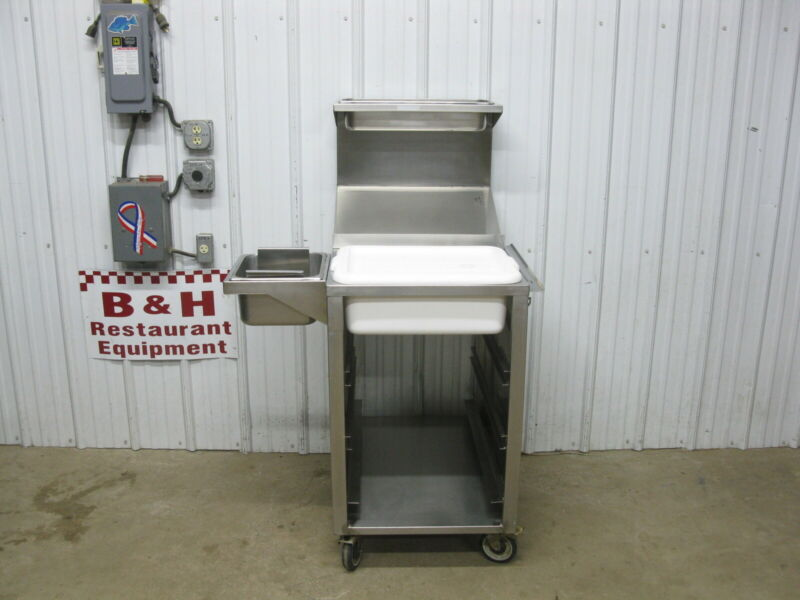 Stainless Steel Mobile Chicken Fish Potato Breading Table Prep Station Cabinet