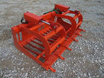Kubota Compact Tractor Attachment - 66 Rock Bucket Tooth Grapple - Ship 179