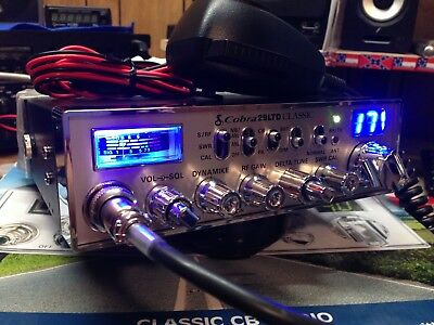 New Cobra 29 LTD Classic Peaked & Tuned,Turbo echo Board, Mod/Swing Kit,Talkback