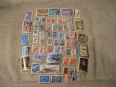 Lot of USSR Russia 60+ diff  mint and used stamps off paper