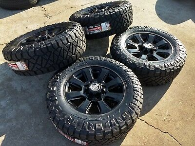 """20"""" Ford F-250 F-350 BLACK OEM rims wheels 35"""" NITTO tires 10102 2018 2019 NEW for sale  Houston"""