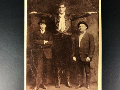 1920s Vintage Circus Sideshow Souvenirs J.G. Tarver Tallest Man Postcard RARE