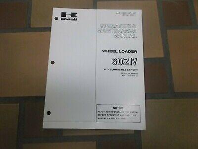 Kawasaki 60ziv Wheel Loader Owner Operator User Guide Maintenance Manual